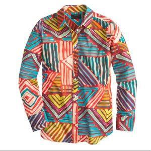 J. Crew geo brushstroke shirt